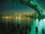 Night View of St Louis Near the Eads Bridge