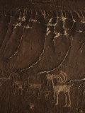 Indian Petroglyph Depicting a Mountain Sheep