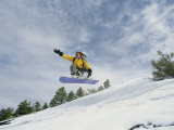 Woman Snowboarding on the Cinder Cone near Sunset Crater
