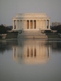The Lincoln Memorial Casts a Reflection in a Nearby Pool
