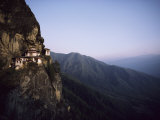 Tigers Den  a Buddhist Monastery  Clings to a Cliff in Bhutan