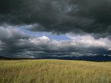 Dark Clouds Gather over a Prairie in the National Bison Range