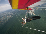 View of a Hang-Glider from a Wing-Mounted Camera as He Flies over Cumberland Valley