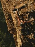 Climber on Smith Rocks  Oregon