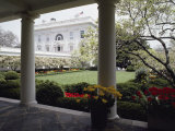 View of the Rose Garden from the White House