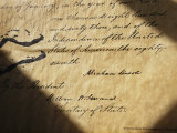 Close-up of Emancipation Proclamation with Abraham Lincolns Signature