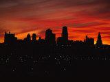 The Sun Rises over the Skyline of Kansas City  Missouri