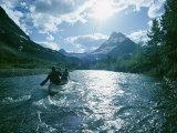 Canoeists on Swiftcurrent Creek