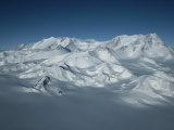 An Aerial View of Mount Vinson  Antarcticas Highest Peak
