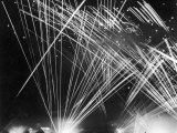 Allied Anti Aircraft Fire Streaking Through the Night During a German Air Attack