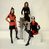 Models Wearing Fashions Designed by Pierre Cardin