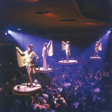 Girls from the Famed Paris Lido Show Performing on Raised Platforms at Stardust Hotel and Casino