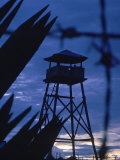 Lookout Tower Outside a Fortified Village During Vietnam War