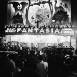 "Audiences Gathered Outside Theater For the Brazilian Premiere of Walt Disney's ""Fantasia"""