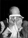 Dwight D Eisenhower Emotionally Crying After His Speech at the 82nd Airborne Luncheon