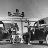 """Car Hop Girls at """"Heff's"""" One of 15 or 20 Hop-Ins in Corpus Christi"""