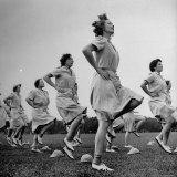 WACs Doing Daily Calisthenics Exercises