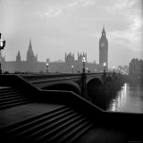 View of the Houses of Parliament as Seen Across Westminster Bridge at Dawn