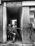 Children Playing at the Entrance to McGee's Court Slum on Camden Street