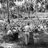 American Servicemen Celebrating Christmas on Guadalcanal During Religious Services