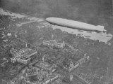 750 Foot Long Graf Zeppelin LZ 127 Flying Above British Capital