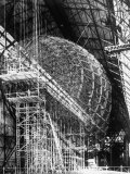 Completed Iron Framework of Zeppelin Supported on Scaffolding at Fabrication Plant