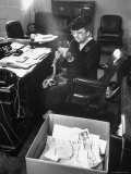 FDR's Secretary of Labor Frances Perkins  Packing Up Souvenirs Including Twine and Box of Letters