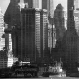 Panoramic View of Buildings in Lower Manhattan Taken from the New Jersey Banks of the Hudson River