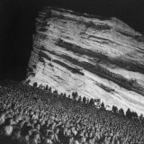 Audience Members Enjoying the Natural Acoustics of the Red Rocks Amphitheater During a Concert