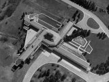 Aerial View of House Designed by Architect Frank Lloyd Wright