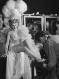"""Chorus Girl Getting a Pedicure During Filming of the Movie """"The Ziegfeld Follies"""""""