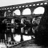 The Pont de Gard  Ancient Roman Aqueduct Bridging River Gard  Built by Romans in First Century BC