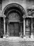 Close Up of Left Portal of Romanesque Church of St Gilles du Gard  Provence
