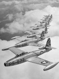 F-84 Jet Planes Flying