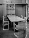 Dining Room Table and Chairs Designed by Architect Frank Lloyd Wright
