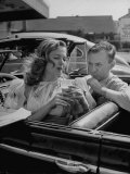 Jane Nigh and Fine Stopping at a Drive in For Cold Drinks