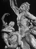 Detail of Laocoon Statue on Display in Museum