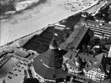 Aerial View of the Beach  Tennis Courts and Pool of the Coronado Hotel