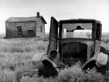 Abandoned Farm in Dust Bowl Aluminium par Alfred Eisenstaedt
