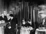 Couples Enjoying Drinks at This Smart  Modern Speakeasy Without Police Prohibition Raids