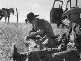 Cowboys on Long Cattle Drive from S Dakota to Nebraska