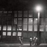 Teenage Boys Whiling Away a Summer Night on the Street Papier Photo par Gordon Parks