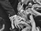 Senator Robert F Kennedy Shaking Hands with Admirers During Campaigning