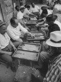 Israeli Men Playing Backgammon