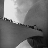 Visitors Inspect Democracity  The City of Tomorrow  at the New York World's Fair
