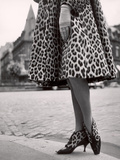Laced Bootees of Leopard  to Match Coat  Designed by Dior
