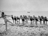 Girls of the Children's School of Modern Dancing  Rehearsing on the Beach