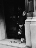 Fan of Actress Grace Kelly Waiting Outside Kelly's Apartment For a Sight of Her Idol