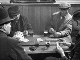 Men Playing a Crib Game  a Card Game  in an English Pub