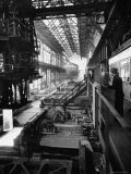 August Thyssen Steel Mill  Large Steel Works  Men Up on Platform